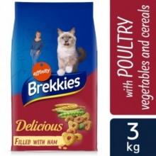 BREKKIES GATO DELICIOUS 3 KG